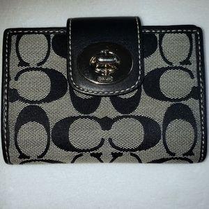 Coach Bags - Sale pending-Coach turnlock canvas wallet